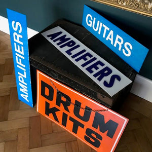 Vintage Music Shop Signs - SHOP NOW - www.intovintage.co.uk
