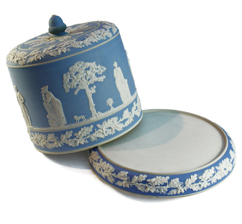 Impressive Jasperware Stilton dish and cover. Find this and other Beautiful Vintage items for you home at Intovintage.co.uk.