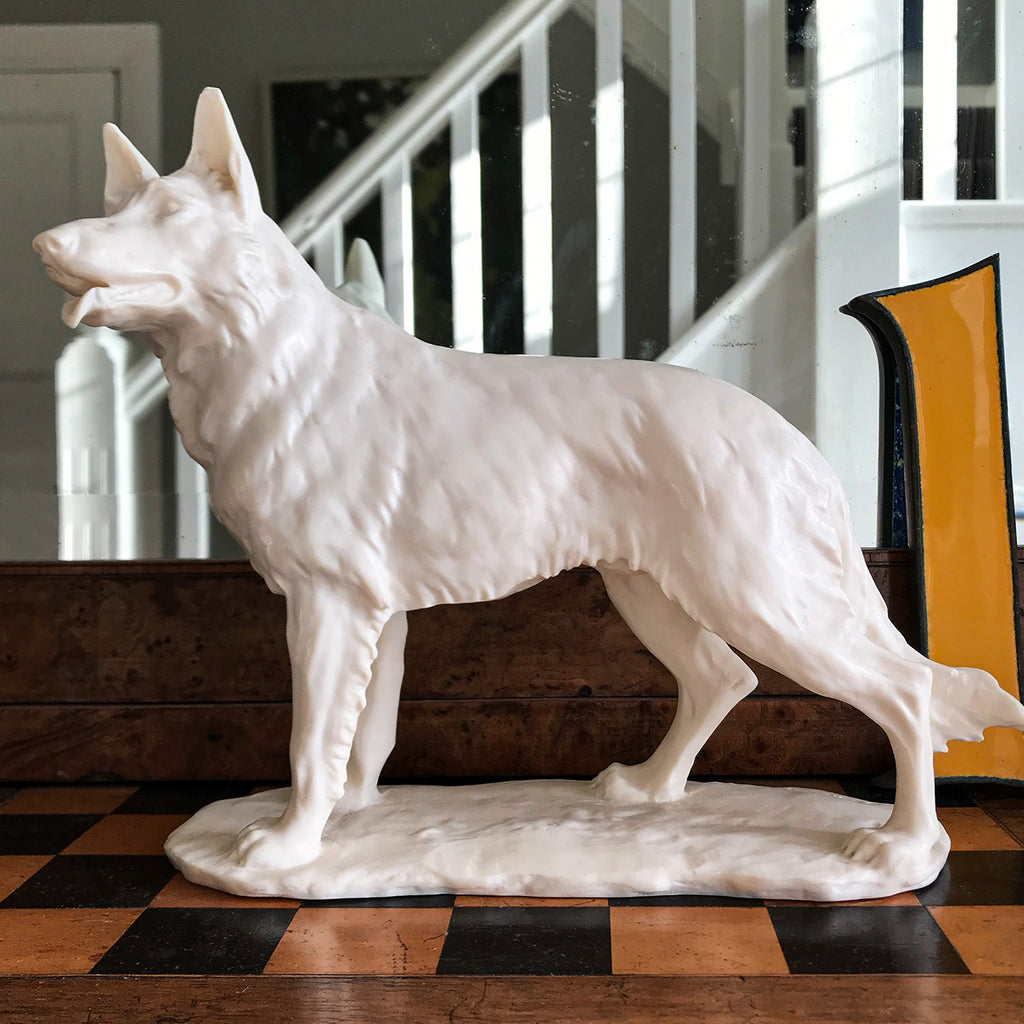 German shepherd dog figurine, a thoughtful gift for all dog lovers...woof! SHOP NOW - www.intovintage.co.uk