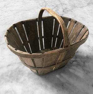 Original Period Devon Stave Basket in wonderful original condition - SHOP NOW - www.intovintage.co.uk