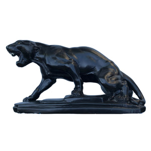 Vintage 1930's Deco Chalkware Black Panther. Find this and other Beautiful Vintage items for you home at Intovintage.co.uk.