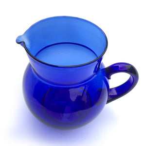 Beautiful hand blown glass jug in a stunning cobalt blue - SHOP NOW - www.intovintage.co.uk