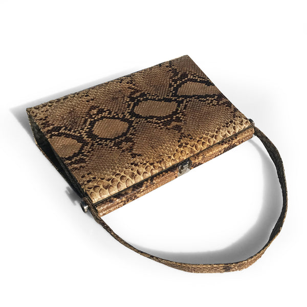 Vintage Snake Skin Handbag. Find this and other Beautiful Vintage Bags & Purses for sale at Intovintage.co.uk.