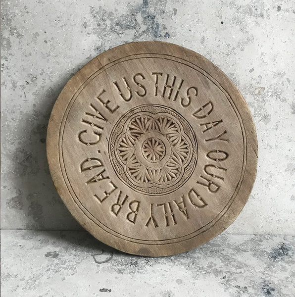Beautiful Scottish breadboard with the Lord's Prayer, late 19th, early 20th C - SHOP NOW - www.intovintage.co.uk