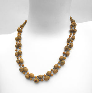 Vintage Glass Bead Necklace. Find this and other Vintage jewellery for sale at Intovintage.co.uk. Into Vintage