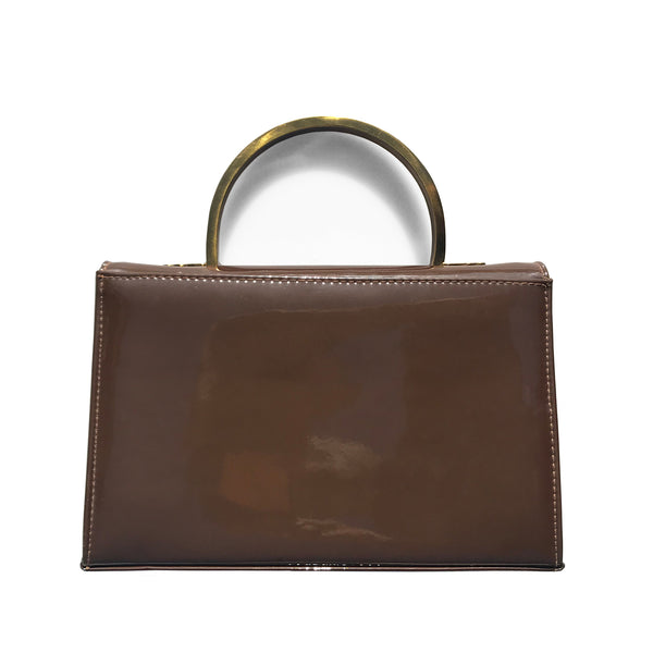 Vintage Ackery Brown Patent Hand Bag. Find this and other Beautiful Vintage Bags & Purses for sale at Intovintage.co.uk.