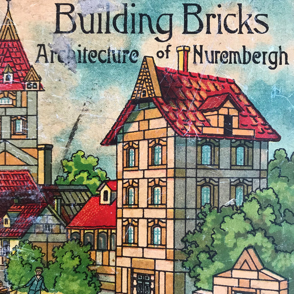 Delightful box of vintage children's building bricks by the Baukasten Toy Company - SHOP NOW - www.intovintage.co.uk