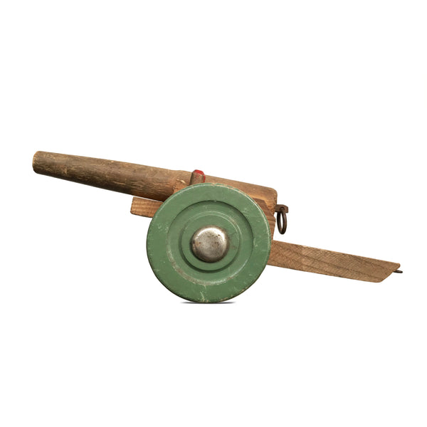 Vintage Wooden Toy Cannon