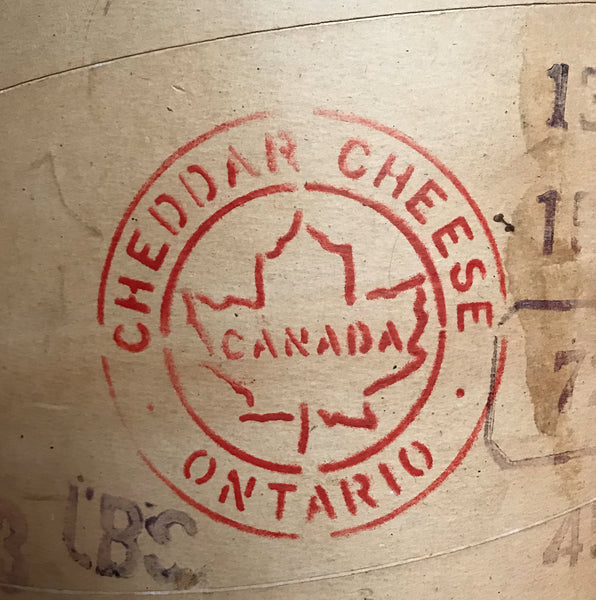 Large Vintage Canadian Cheese box