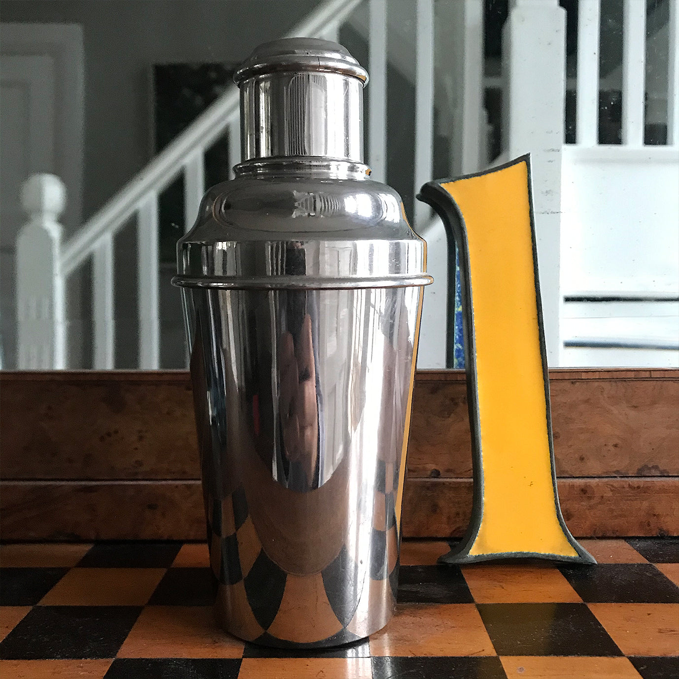 Deco Chrome Plate Cocktail Shaker