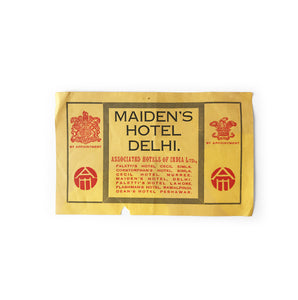 Vintage Indian Luggage Label