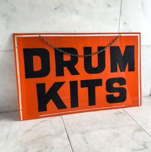 Vintage Shop 'Drum Kits' Sign
