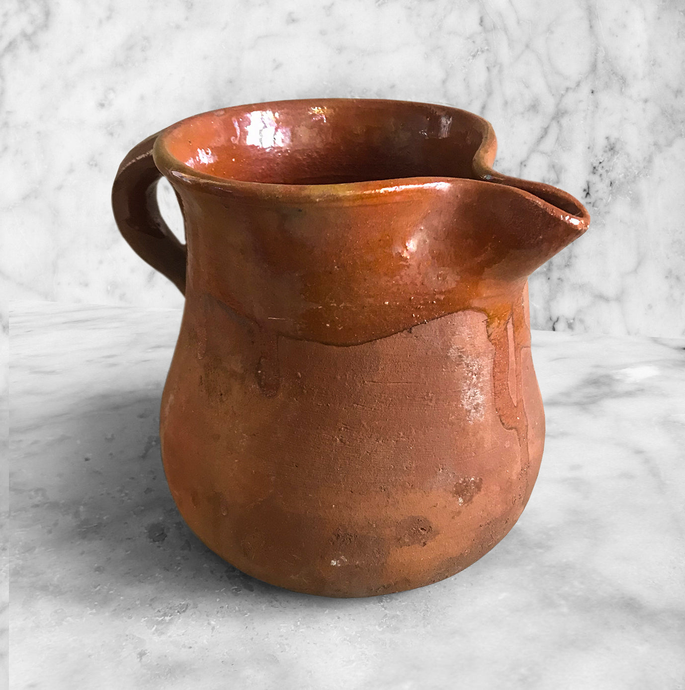 Rustic country table jug. Beautiful, honest form and a fantastic rich, red, earthy coulour - SHOP NOW - www.intovintage.co.uk