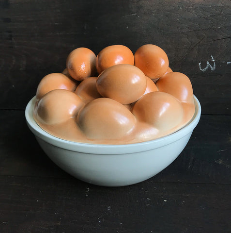 A fantastic Vintage Faux Egg Bowl . The life-sized eggs on the top lid are ceramic giving the impression that the bowl is full of eggs! Ideal for the up and coming Easter celebrations! - SHOP NOW - www.intovintage.co.uk