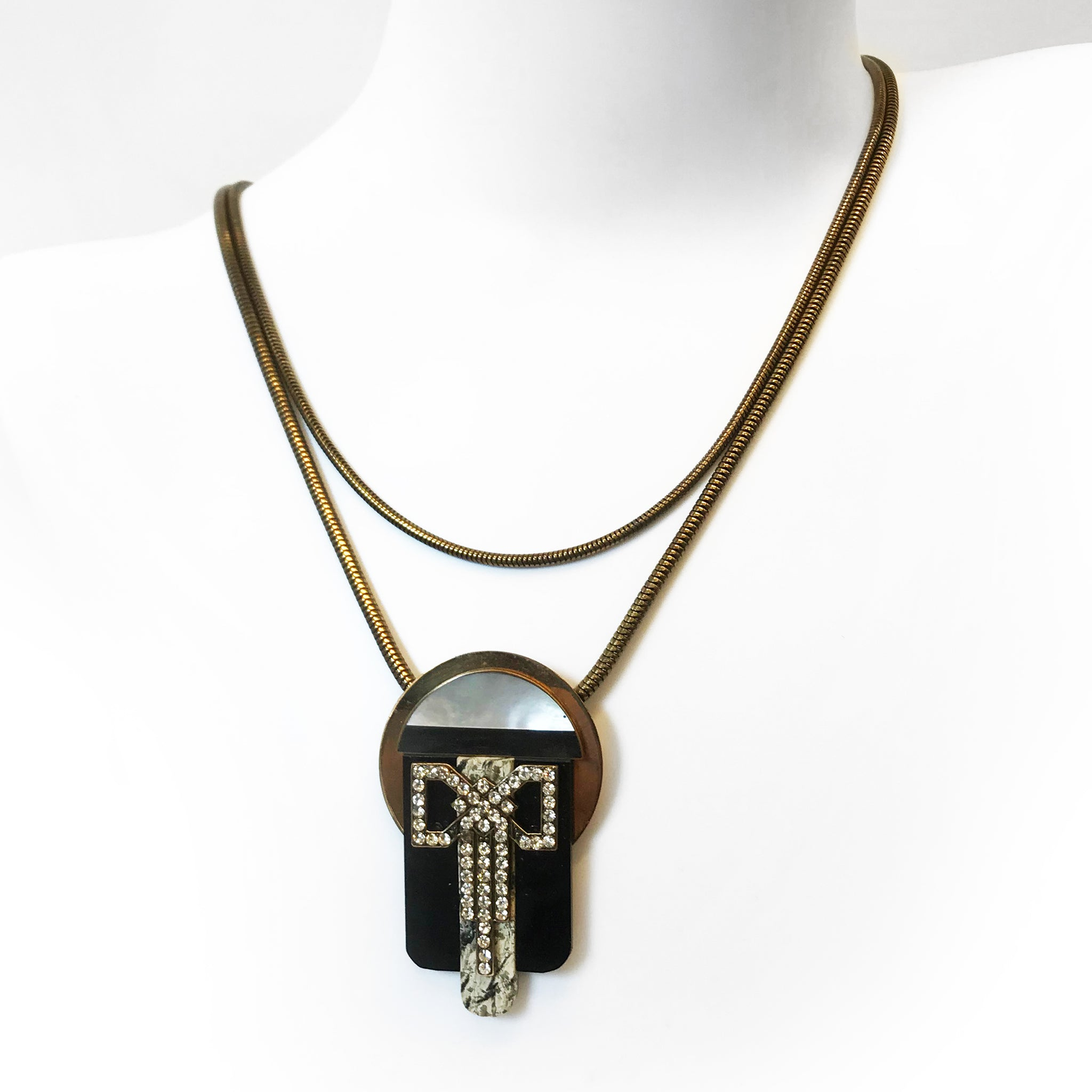 Ermani Bulatti Bakelite & Paste Necklace