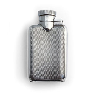 English Silver Hip Flask
