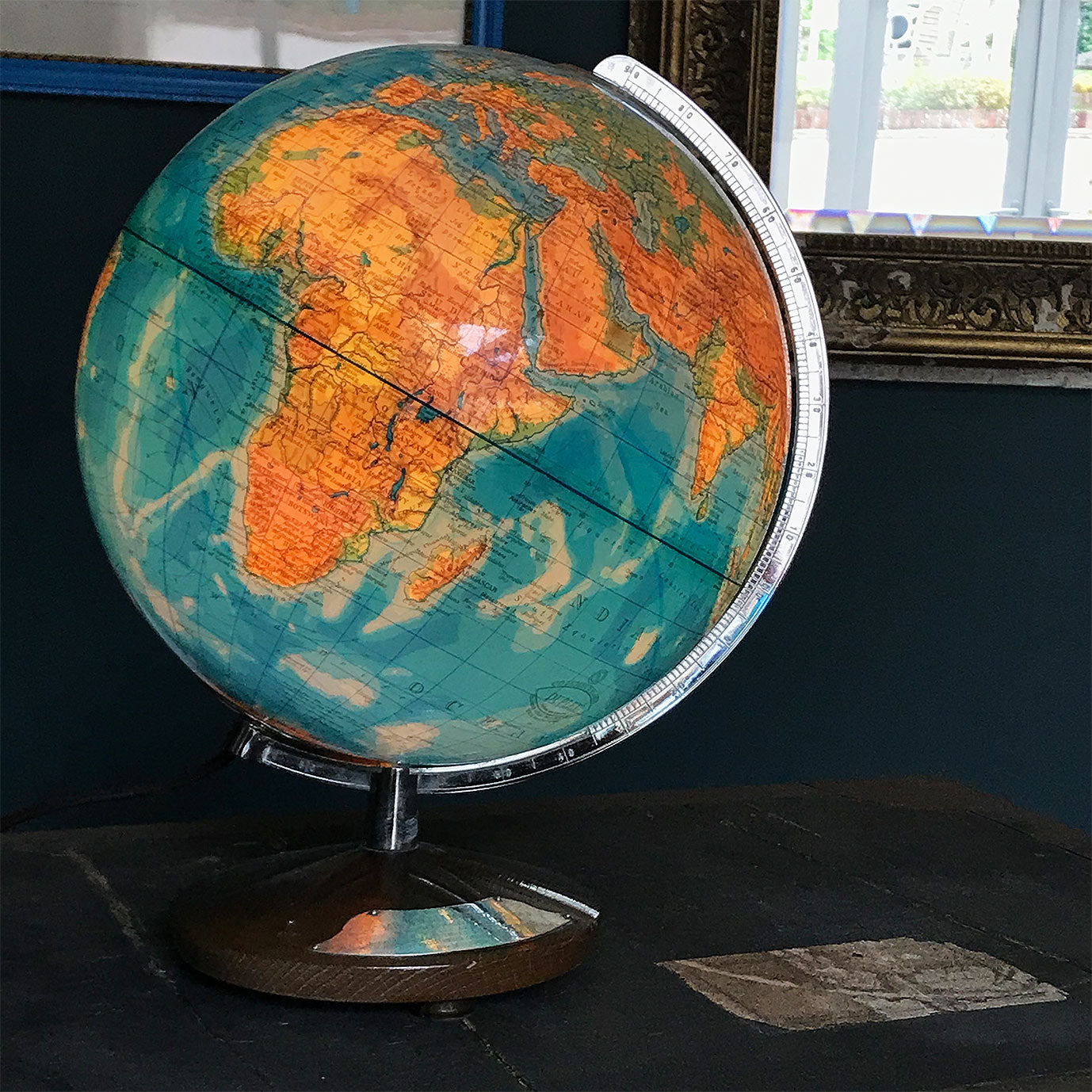 Cool Vintage Illuminated Columbus Globe by German company Paul Oestergaard of Berlin and Stuttgart - SHOP NOW - www.intovintage.co.uk