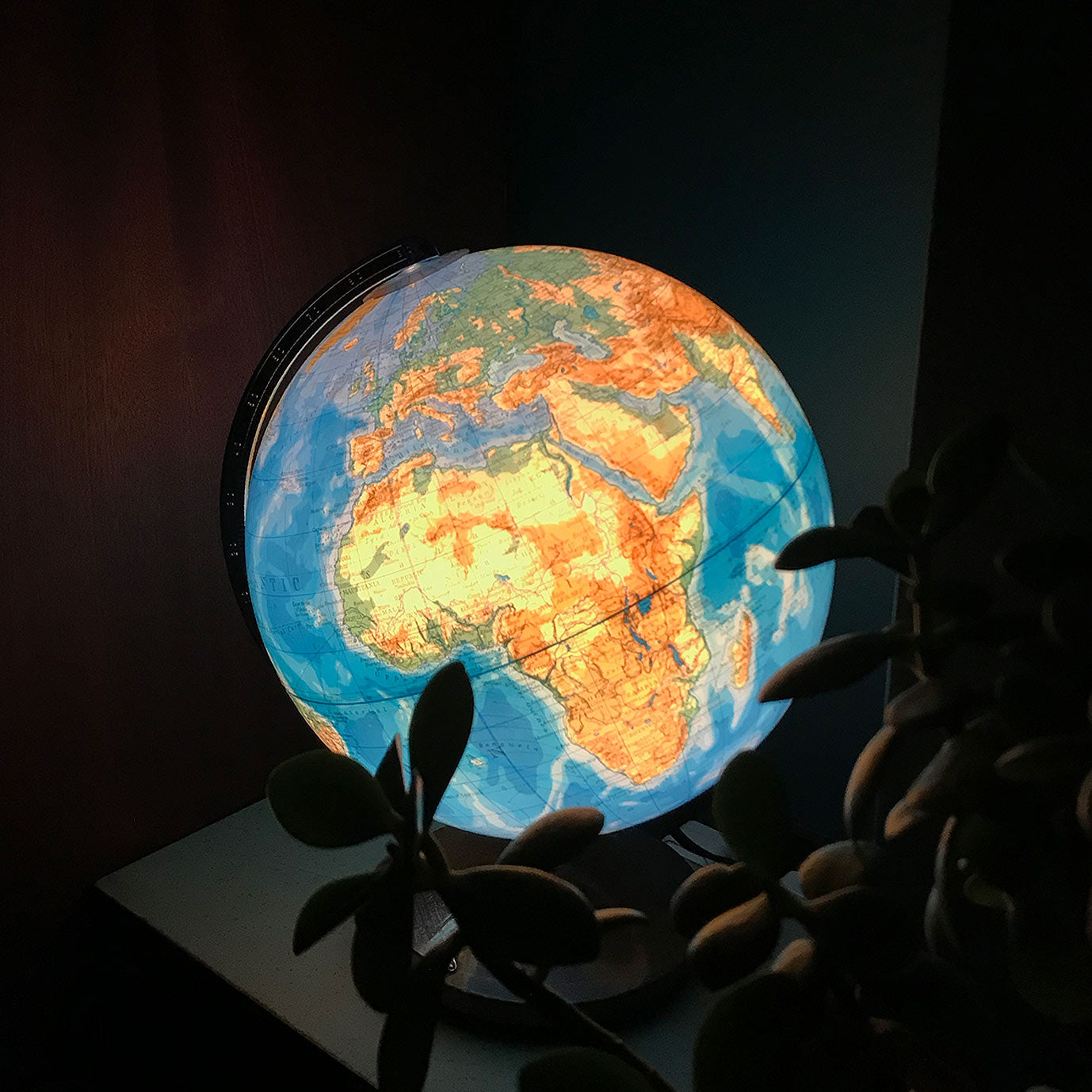 Vintage German Illuminated Columbus Globe