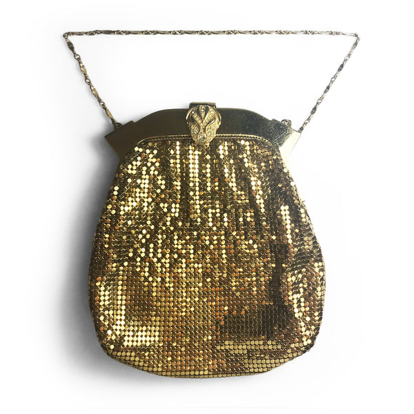 Vintage Golden Evening Bag. Find this and other Beautiful Vintage Bags & Purses for sale at Intovintage.co.uk.