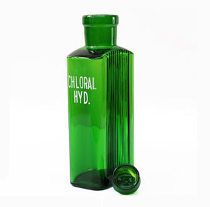 Green Apothecary Bottle