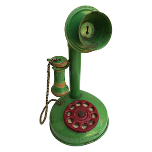 Vintage 1920's Tin toy telephone. Find this and other Vintage Tins & Toys for sale at Intovintage.co.uk.