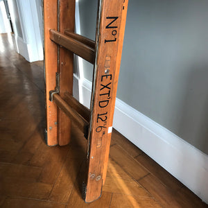 Vintage Army extendable Wooden Ladder - SHOP NOW - www.intovintage.co.uk