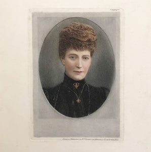 Period Engraving of an Edwardian Lady. Published by F.T Dennis. Find Antique Etchings & other Antique Prints at IntoVintage.co.uk