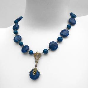 Vintage1930's Lapis Lazuli 1930's. Find this and other Vintage jewellery for sale at Intovintage.co.uk. Into Vintage