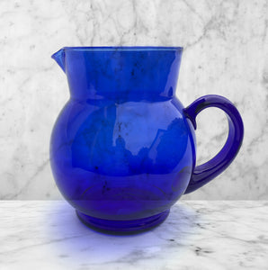Cobalt Blue Glass Water Jug