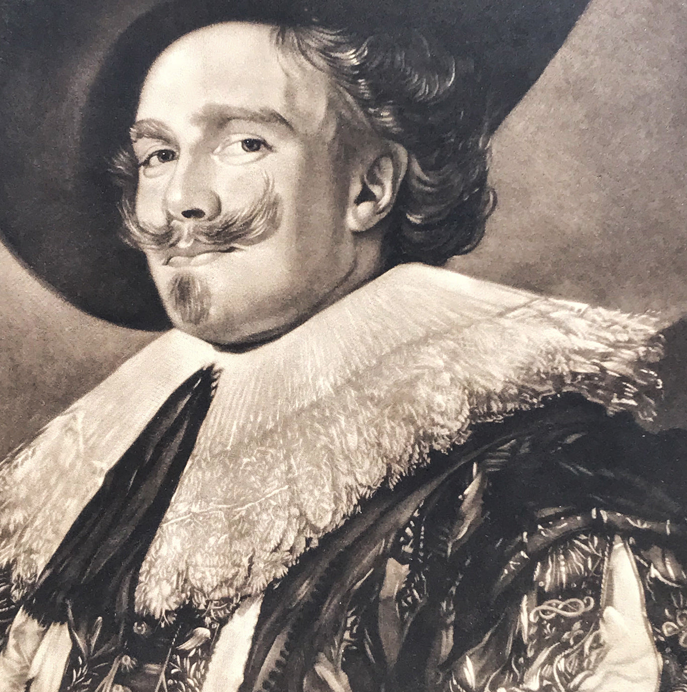 Antique Etching of The Laughing Cavalier - IntoVintage.co.uk
