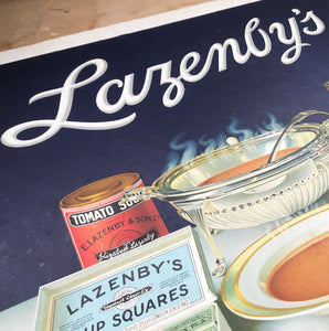 Original antique printers proof advertising Lazenby's A very nice original print and very rare surviver that would look great framed and hung in the kitchen - SHOP NOW - www.intovintage.co.uk