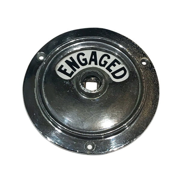 Original 1930s Art Deco chrome toilet Vacant/Engaged lock. SHOP NOW - www.intovintage.co.uk