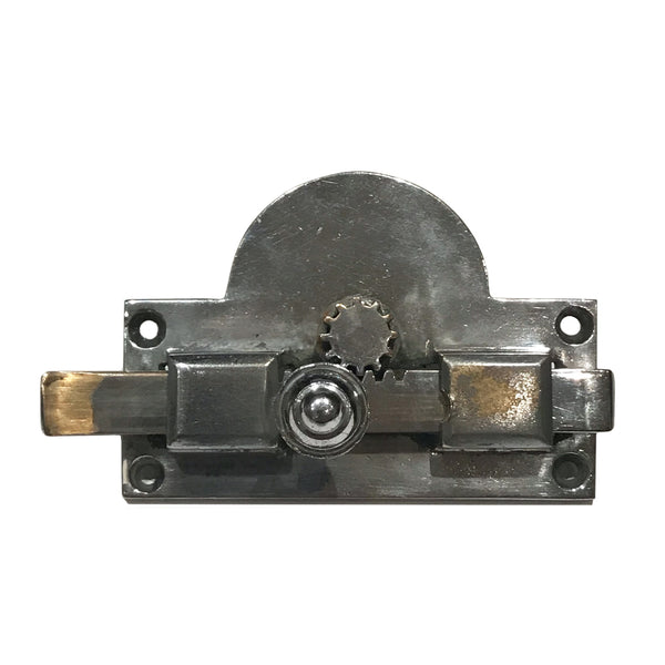 Early quality vintage toilet lock. Nickel plated with all fittings - SHOP NOW - www.intovintage.co.uk