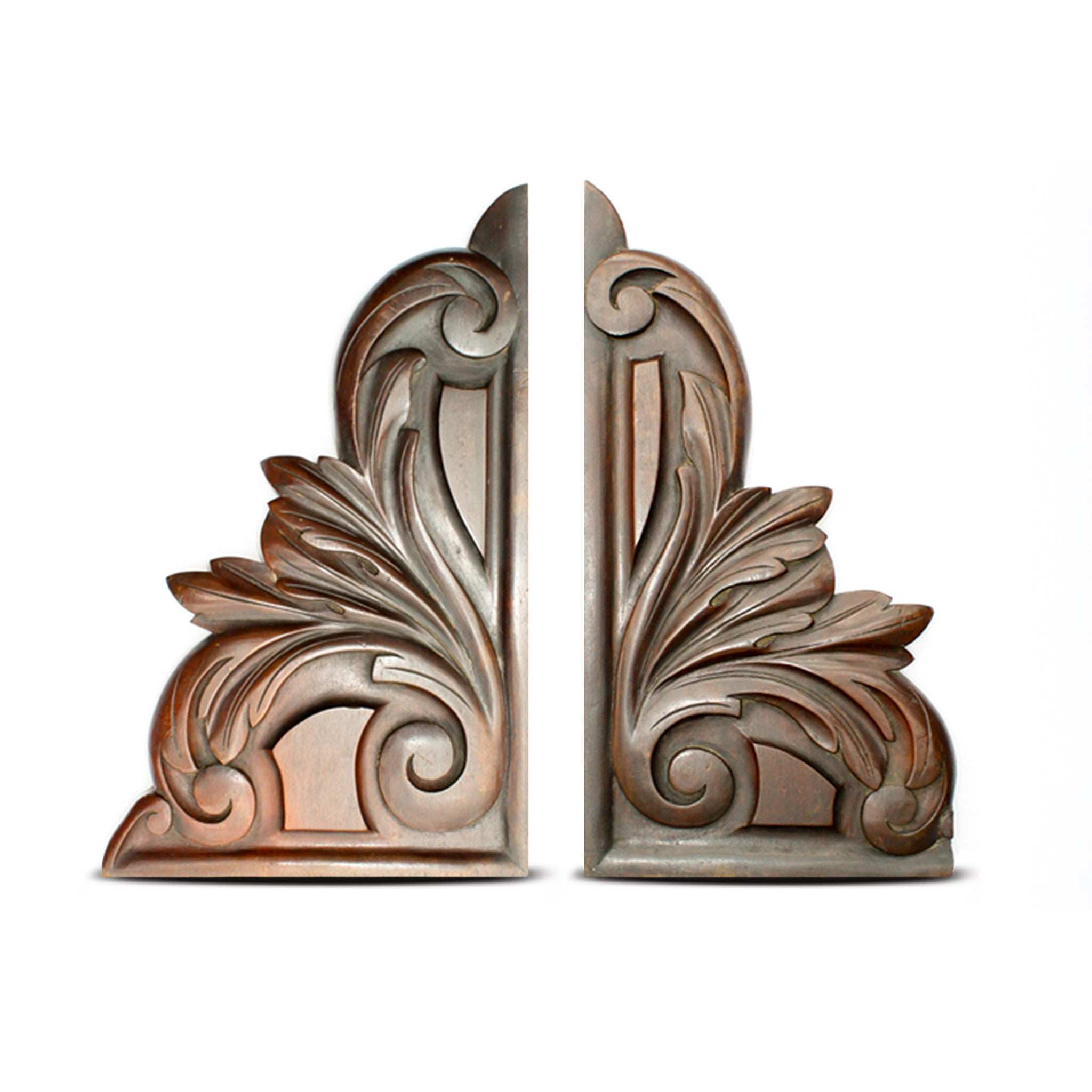 A pair of decorative antique French Carved Corner Brackets. Find this and other Beautiful Vintage items for you home at Intovintage.co.uk.
