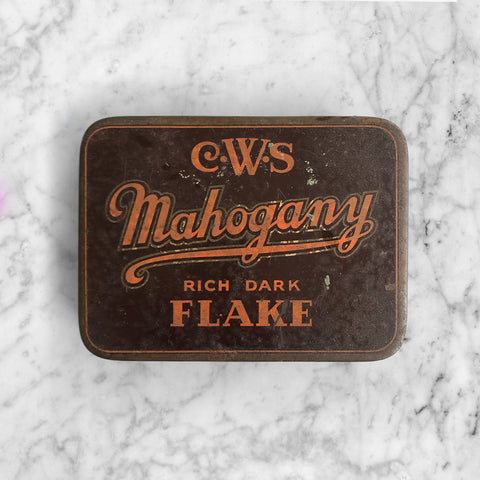 Good sized Vintage Tobacco Tin. Nice typography to the front - SHOP NOW - www.intovintage.co.uk