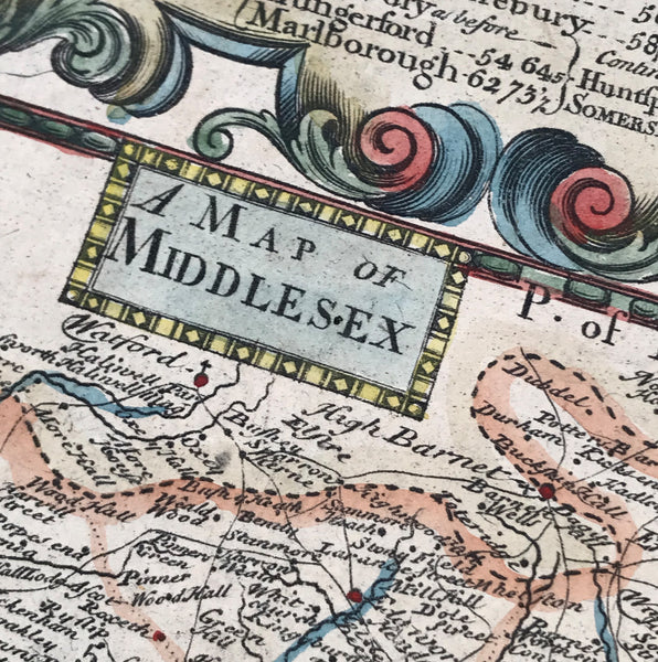 Antique Map of Middlesex (1773)