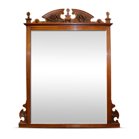 Large 19th C French Oak Mirror