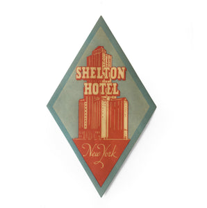 Vintage New York Luggage Label