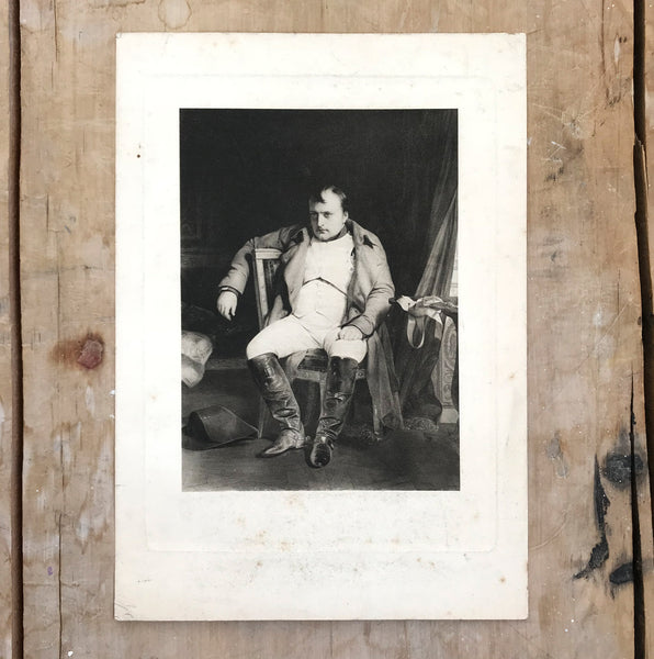 Original antique engraving of Napoleon's abdication in Fontainebleau. Find Antique Etchings & other Antique Prints at IntoVintage.co.uk