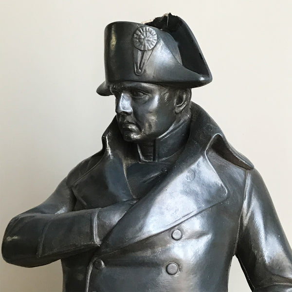 A large plaster figurine of the mighty Napoleon Bonaparte by Austin Productions Inc. Great original colour, and good size - SHOP NOW - www.intovintage.co.uk