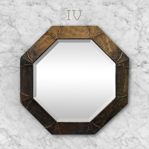 Arts & Crafts Octagonal Copper Mirror