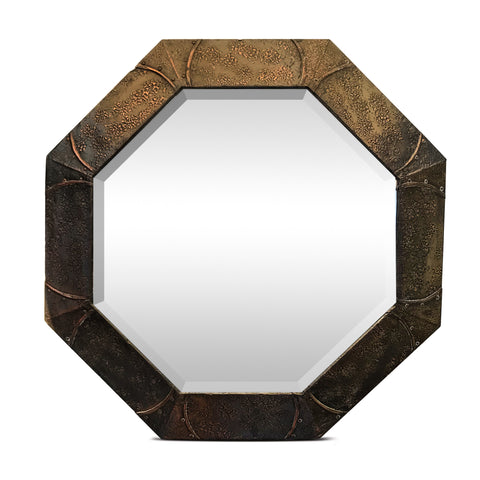 Arts & Crafts Octagonal Copper Mirror. Find this and other Beautiful Vintage items for you home at Intovintage.co.uk.