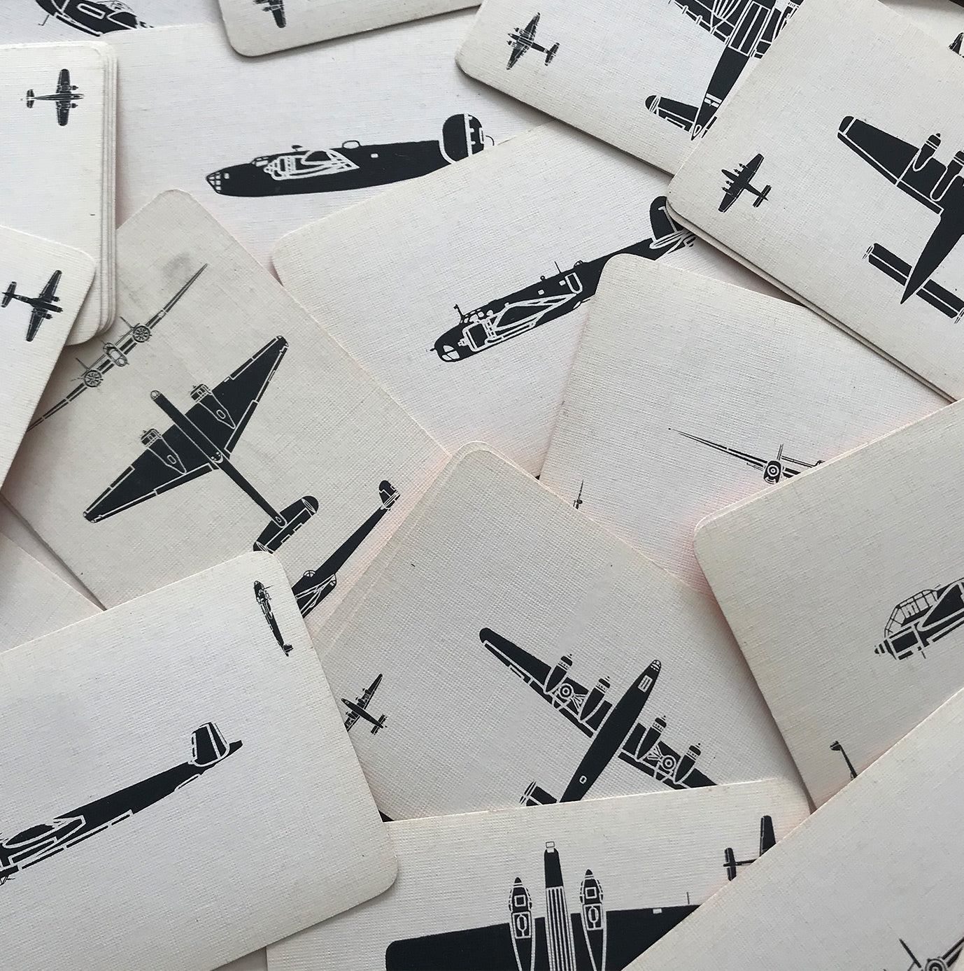 Wonderful set of plane spotting cards. There are three different views of planes, from above, from the side and from the front. There are 48 cards in total, and would look fantastic framed - SHOP NOW - www.intovintage.co.uk