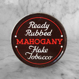 Nice and clean Vintage Mahogany Flake Tobacco Tin Tobacco Tin. Nice typography to the front in a nice and clean condition. - SHOP NOW - www.intovintage.co.uk