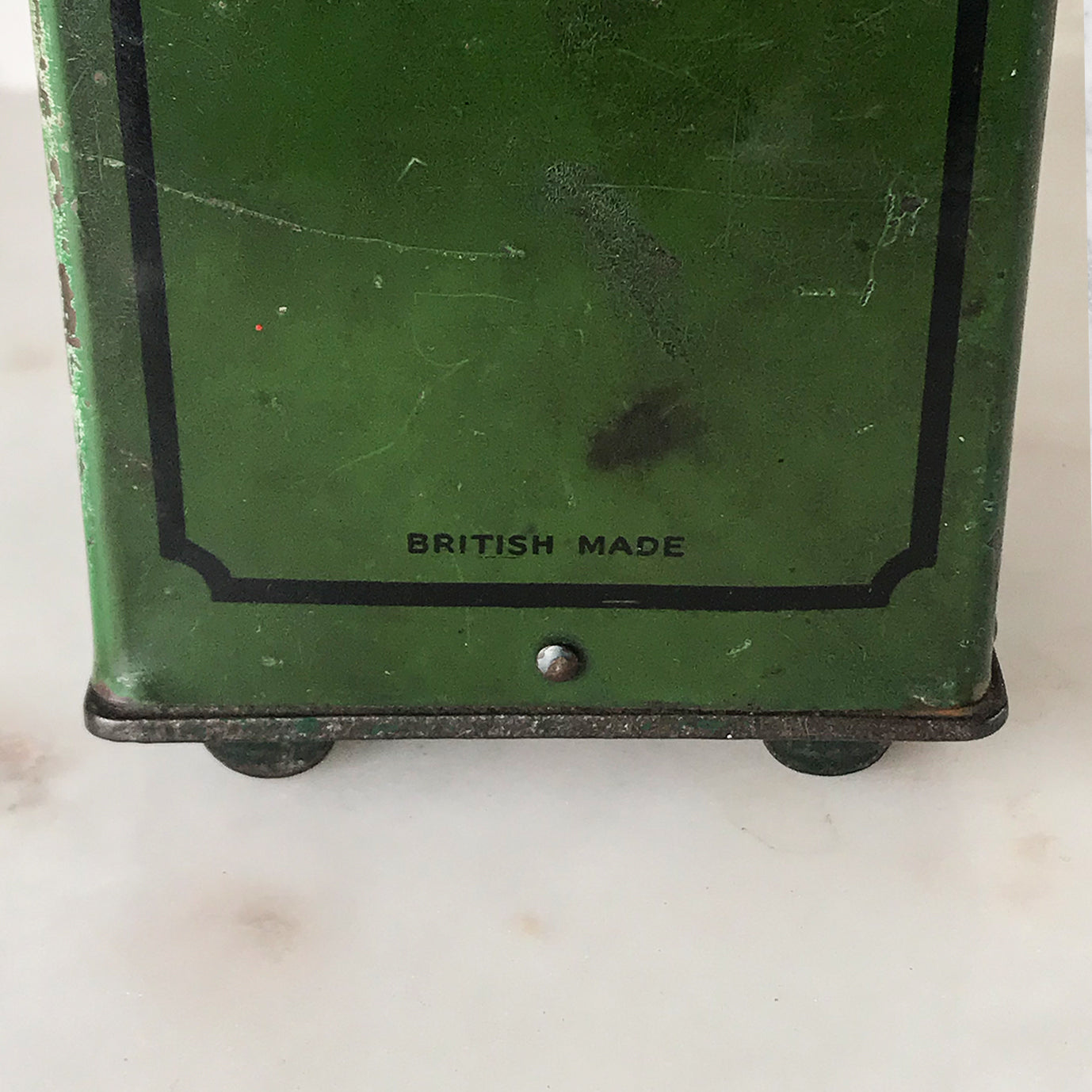 Gorgeous little Vintage Tin Safe Money Box with a fantastic aged patina - SHOP NOW - www.intovintage.co.uk