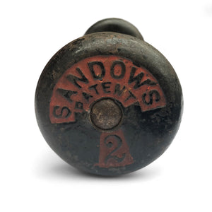 A real piece of body building history... a beautiful Victorian Sandow's No2 (1lb) dumbbell in great original condition - SHOP NOW - www.intovintage.co.uk