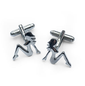 Cool pair of sexy lady cufflinks that would look great on any cuff... SHOP NOW - www.intovintage.co.uk