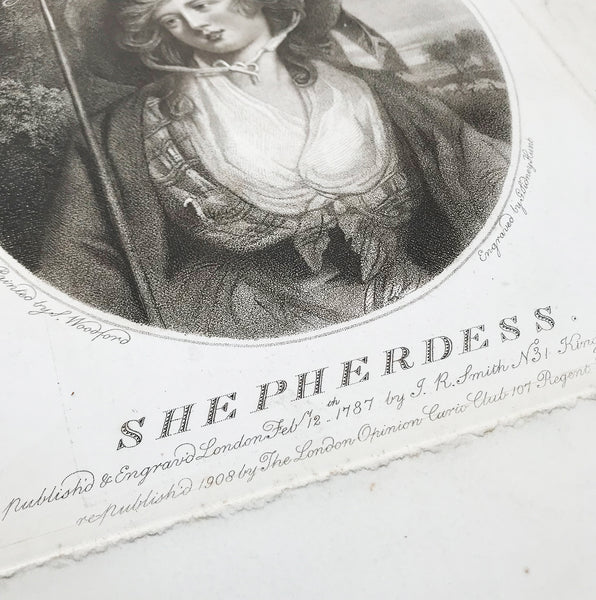The Shepherdess dated 1908 by Sidney Hunt. Find Antique Etchings & other Antique Prints at IntoVintage.co.uk