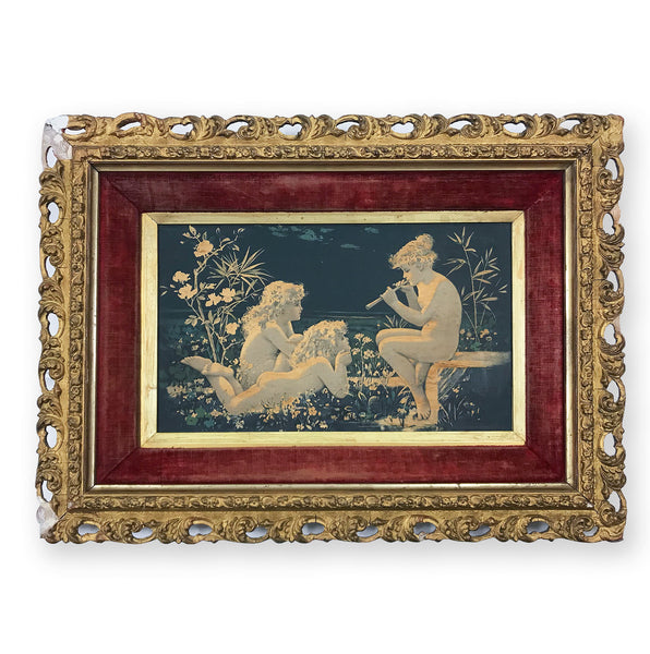 Antique Silk Picture. Find Art, Antique Etchings & other Antique Prints at IntoVintage.co.uk