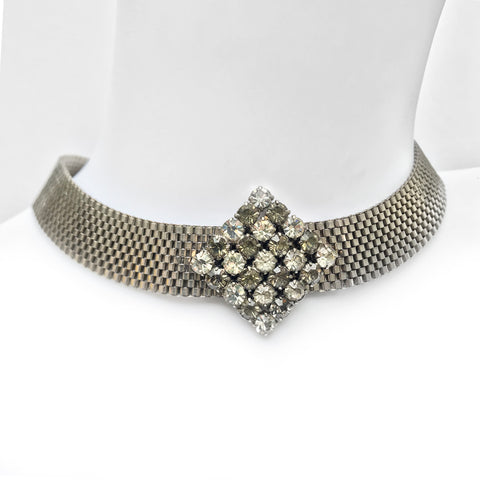 Vintage Diamante Choker - SHOP NOW - www.intovintage.co.uk